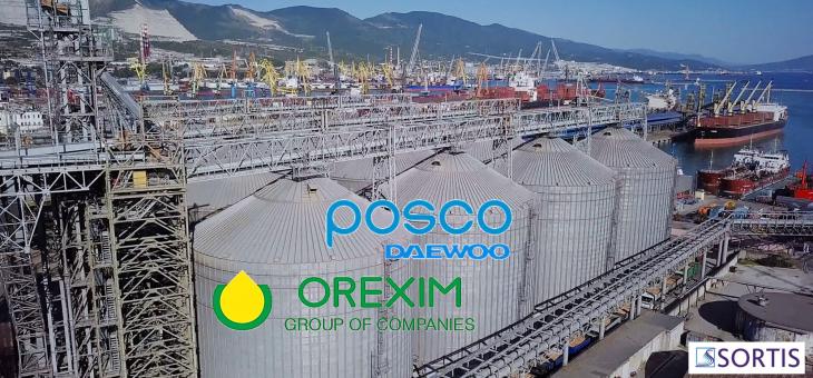 Корейската Posco Deawoo придобива 75% от украинския терминал за складиране и износ на зърно Orexim Group